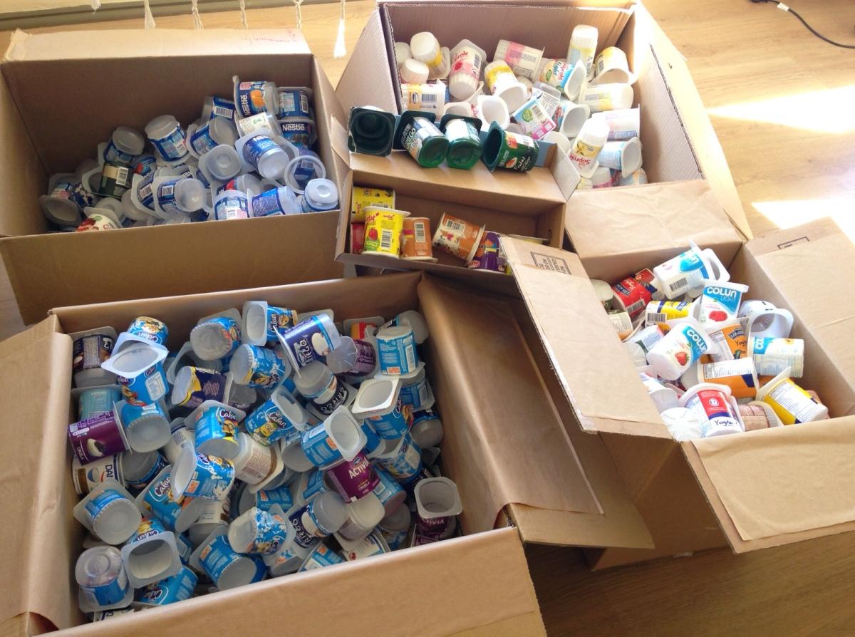Campaña ciudadana busca reciclar envases de yogur